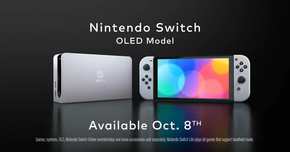 Nintendo Switch com tela OLED será lançado em 8 de outubro