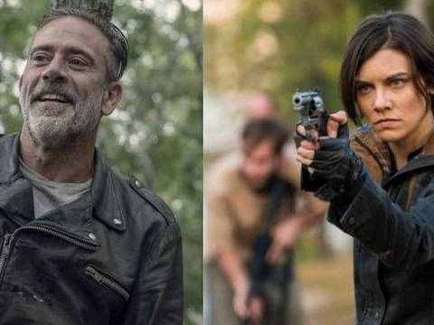 Jeffrey Dean Morgan e Lauren Cohan em The Walking Dead