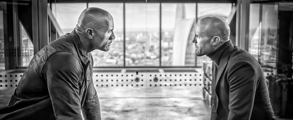 Hobbs & Shaw   The Rock revela visual de Idris Elba em nova foto