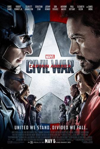 Cartaz de Capitão América: Guerra Civil