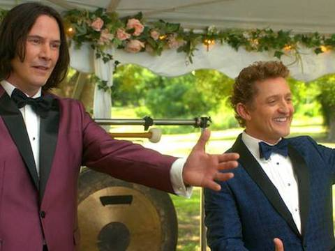 Keanu Reeves e Alex Winter em Bill & Ted: Face The Music/Orion Pictures