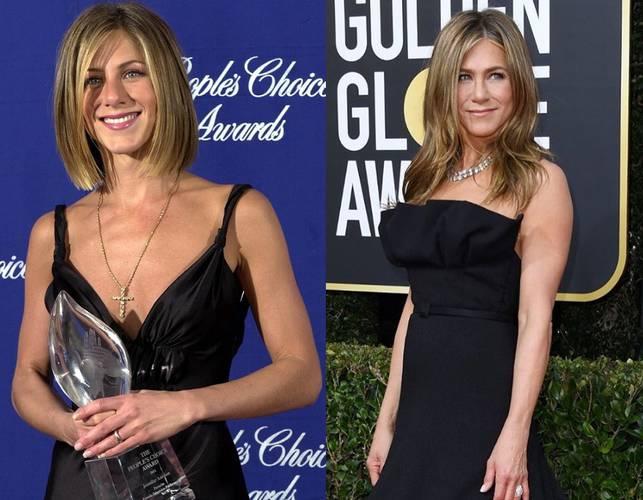 Jennifer Aniston em 2000 e 2020
