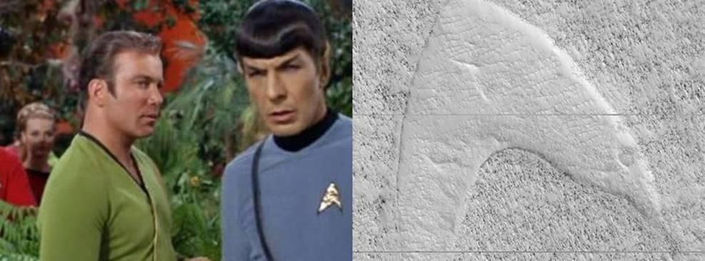 Star Trek | Símbolo da Frota Estelar é visto em Marte