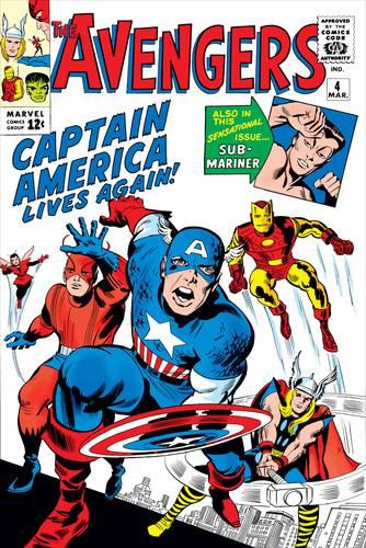 Capa de Jack Kirby para a HQ Avengers #4