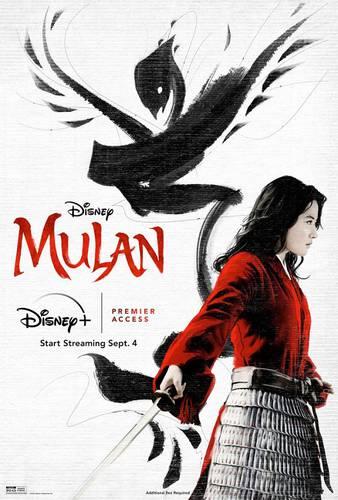Liu Yifei no pôster de Mulan