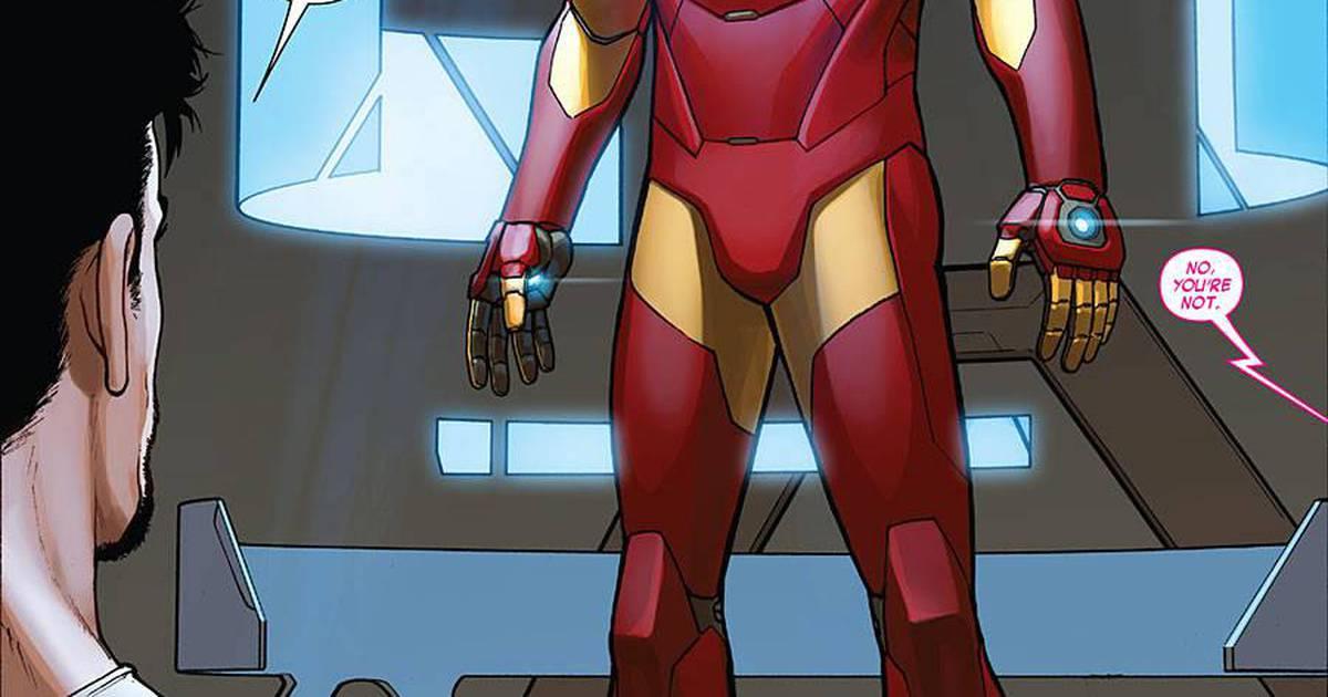 Homem de Ferro   Tony Stark revela sua nova armadura nos quadrinhos