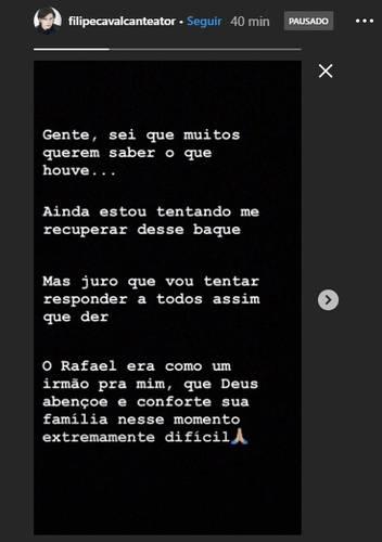 Imagem do Instagram de Filipe Cavalcante