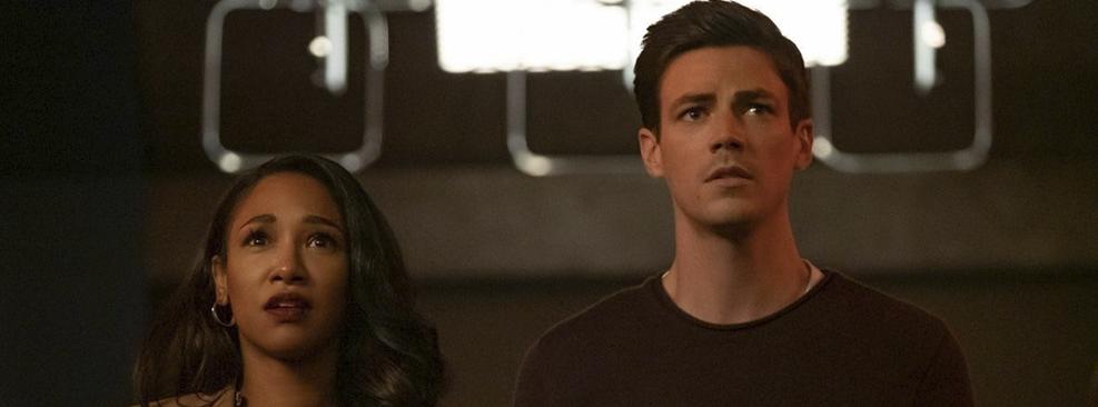 Candice Patton e Grant Gustin em The Flash/CW