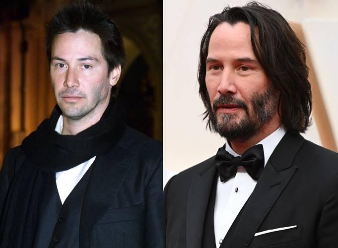 Keanu Reeves em 2000 e 2020