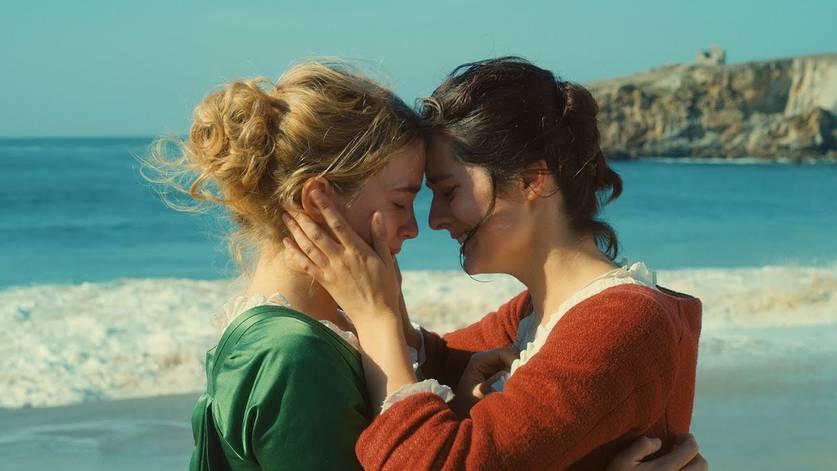 Noémie Merlant e Adèle Haenel em Retrato de uma Jovem em Chamas