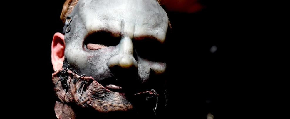 Corey Taylor, vocalista do Slipknot (via Kevin Winter/Getty Images North America/AFP)
