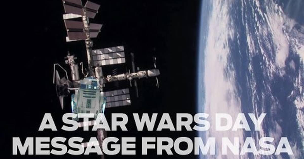 Star Wars |  R2-D2 ajuda NASA a enviar mensagem para o Star Wars Day