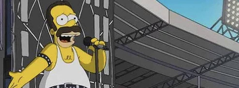 Os Simpsons recria show icônico do Queen no Live Aid