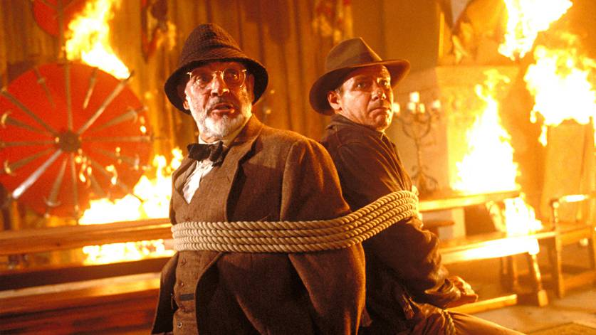 Cena de Indiana Jones e a Última Cruzadac