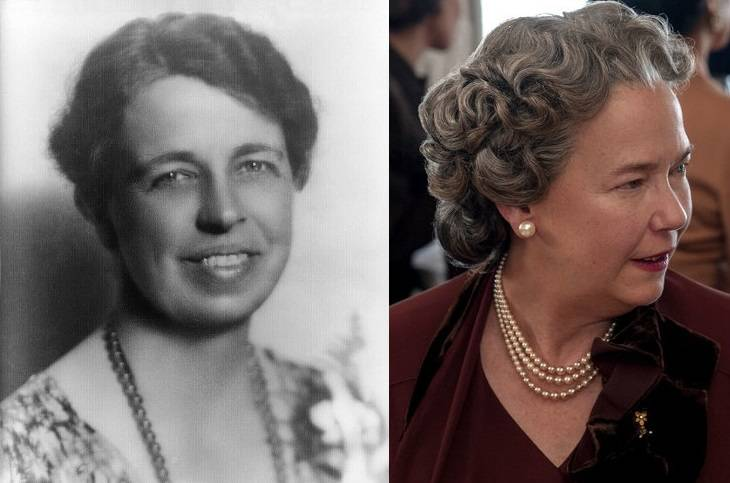 Eleanor Roosevelt e Harriet Sansom Harris em Hollywood