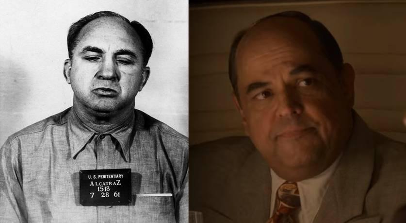 Mickey Cohen em Alcatraz e Frank Crim em Hollywood