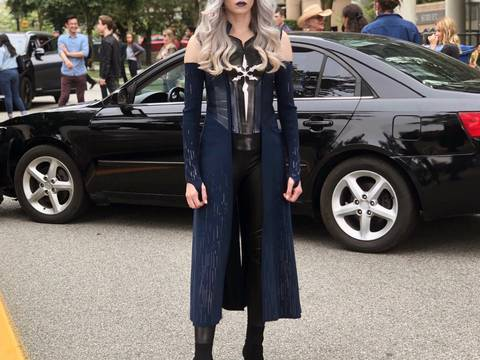 Danielle Panabaker como Killer Frost em The Flash (via @Dpanabaker)