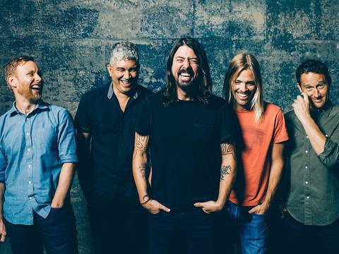 Membros do Foo Fighters em foto publicitária/Brantley Gutierrez