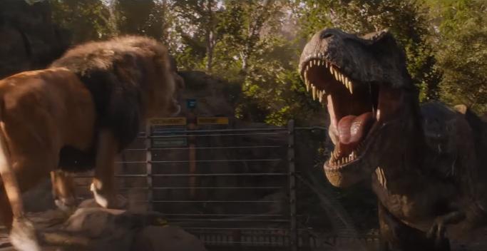 Resultado de imagem para Lion Vs. T-Rex Jurassic World Fallen Kingdom