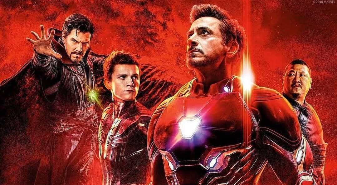 Resultado de imagem para vingadores guerra infinita homem de ferro, homem aranha e dr estranho