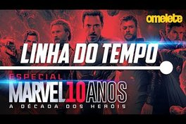 LINHA DO TEMPO DA MARVEL NO CINEMA | Marvel 10 Anos