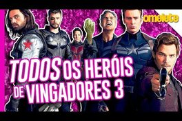 OS 40 HERÓIS DE VINGADORES GUERRA INFINITA