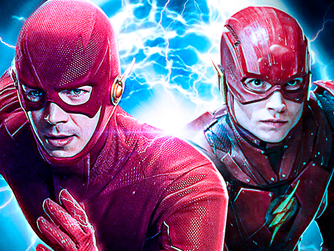 Ezra Miller e Grant Gustin como The Flash