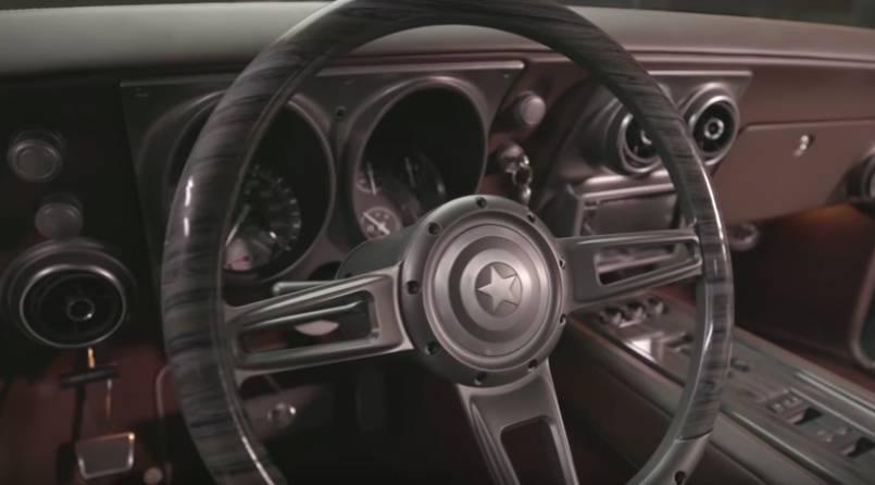 camaro capitao america 2 - Robert Downey Jr. deu carro estilizado do Capitão América para Chris Evans