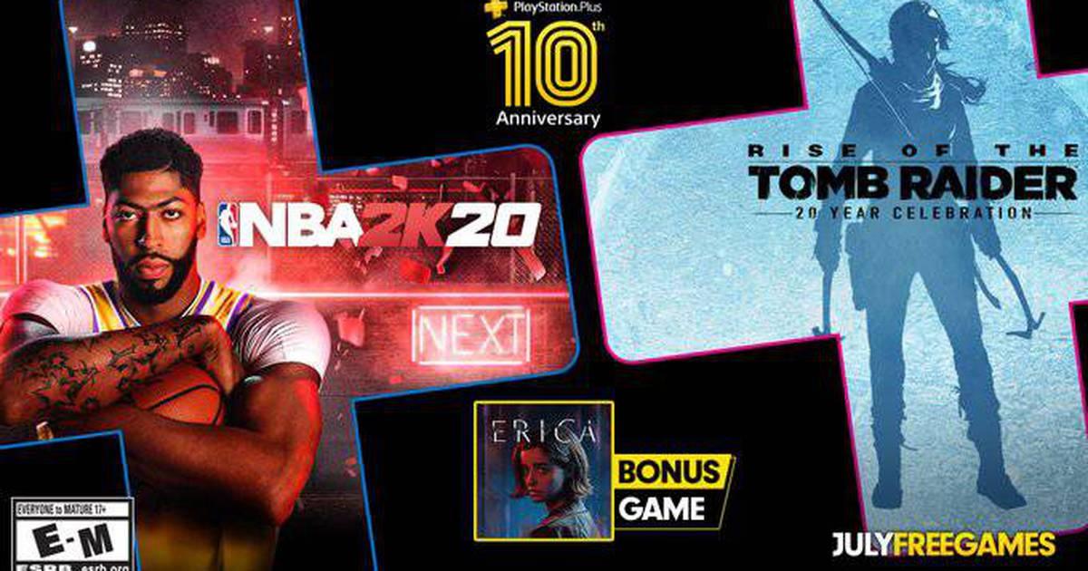 Rise of the Tomb Raider, NBA 2K20 e Erica são jogos da PS Plus em julho – The Enemy