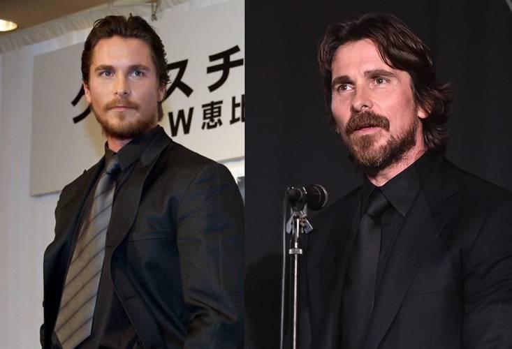 Christian Bale em 2000 e 2020