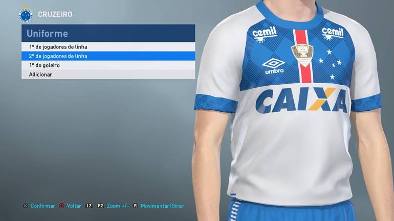 1f1304c8dbc38 The Enemy - PES 2019 estampa com erros uniformes de Santos