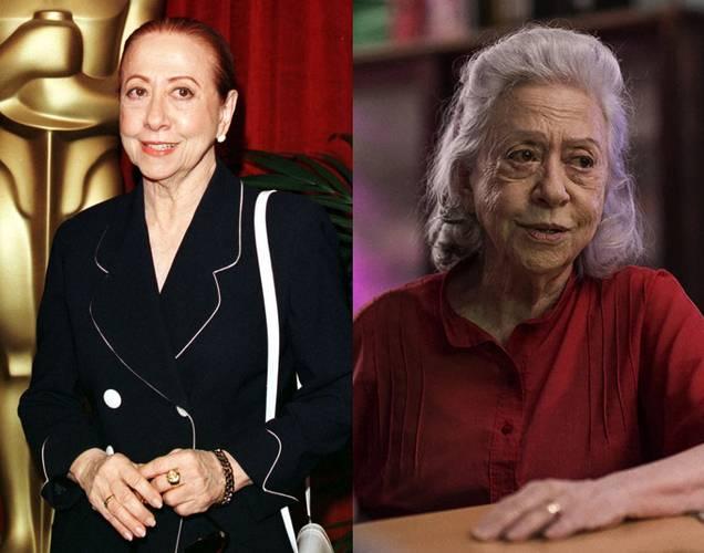 Fernanda Montenegro em 1999 e em A Vida Invisível