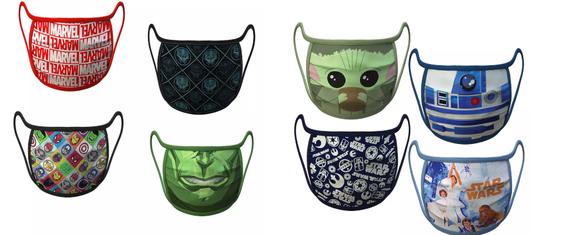 Disney começa a vender máscaras tematizadas da Marvel e Star Wars