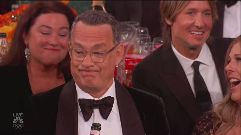 Tom Hanks no Globo de Ouro 2020