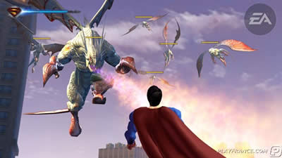 Veja mais imagens do game do Super-Homem