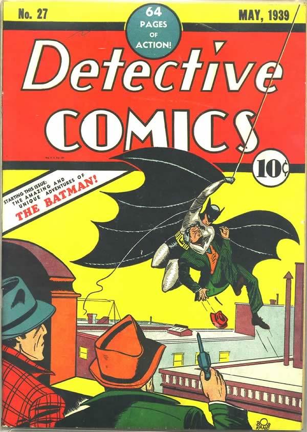 Batman surge na Detective Comics 27 em 1939