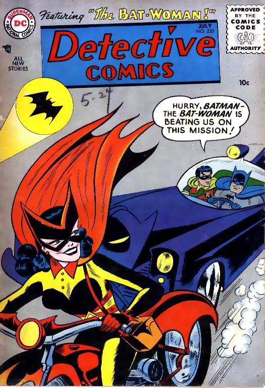Detective Comics 233 surge a Batwoman em 1956