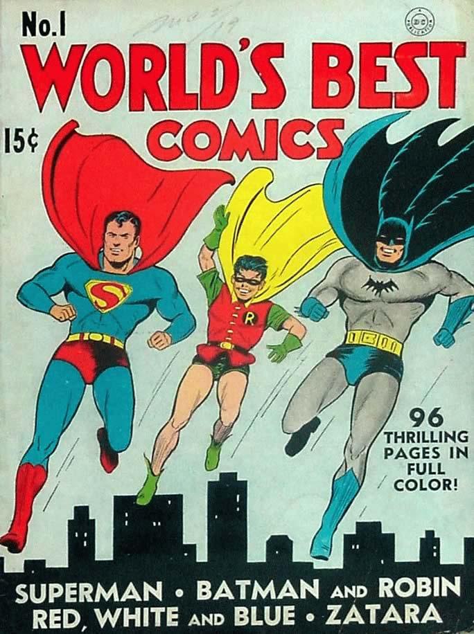 Em 1941 a Worlds Best Comics reune aventuras de varios herois