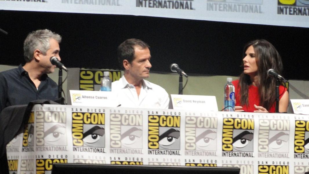 Gravidade Alfonso Cuaron David Heyman Sandra Bullock.JPG