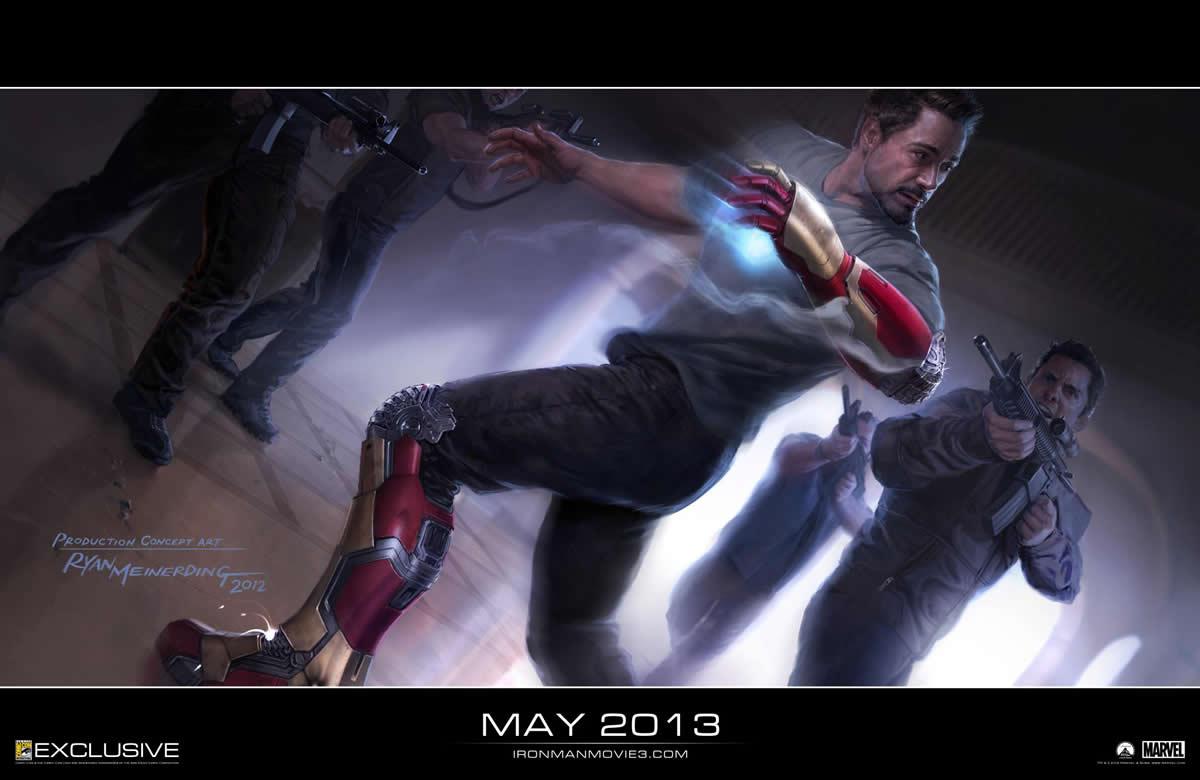 arte conceitual de Homem de Ferro 3