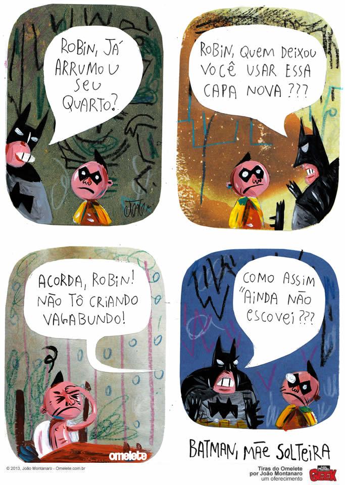 Batman Mae Solteira tira Montanaro