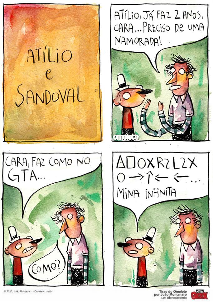 tira joao montanaro Atílio e Sandoval - GTA