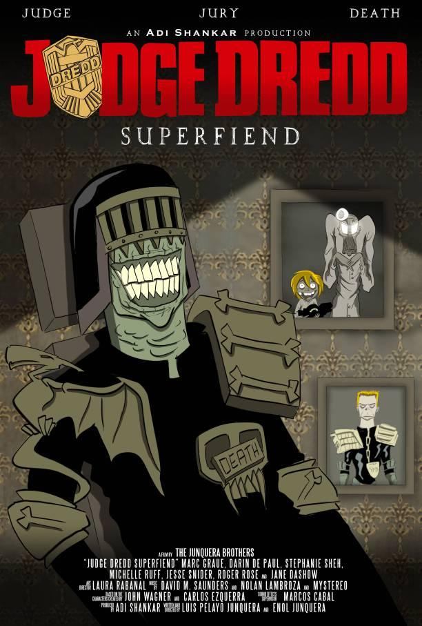 Judge Dredd Superfiend poster