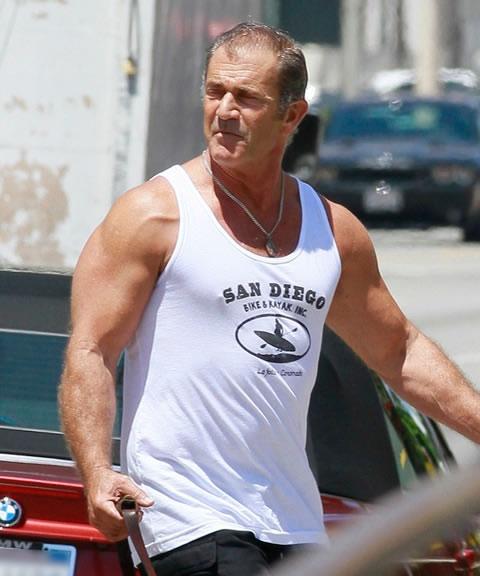 Os Mercenarios 3 Mel Gibson no set 19Ago2013