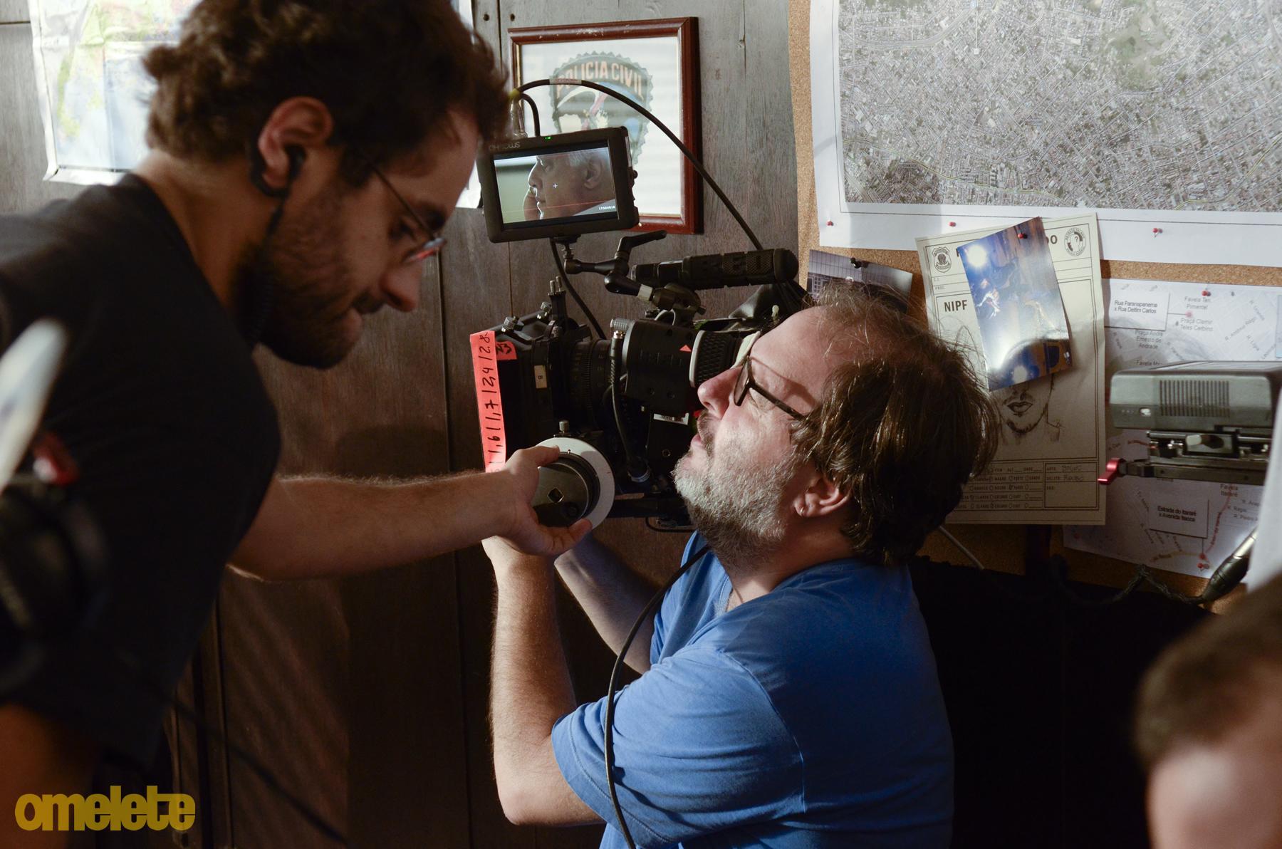 José Eduardo Belmonte dirige Fagundes no primeiro dia de filmagem