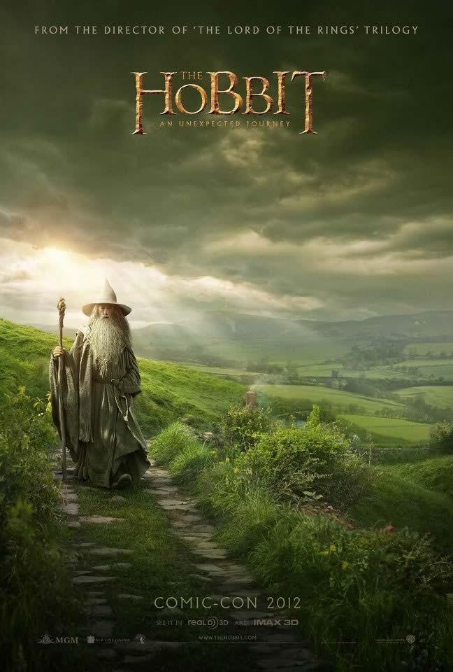 Hobbit poster Comic Con 2012