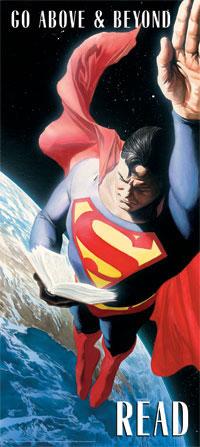 Superman lendo