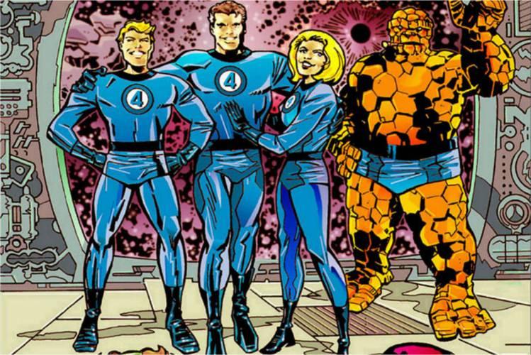 Quarteto Fantástico reunido em revista da Marvel Comics