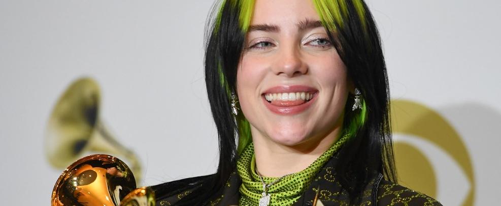 Billie Eilish no Grammy 2020 (via Frederic J. Brown/AFP)