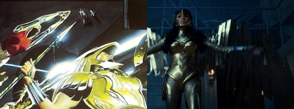 CCXP19 | Alex Ross compara armadura do trailer de Mulher-Maravilha 1984 com HQ